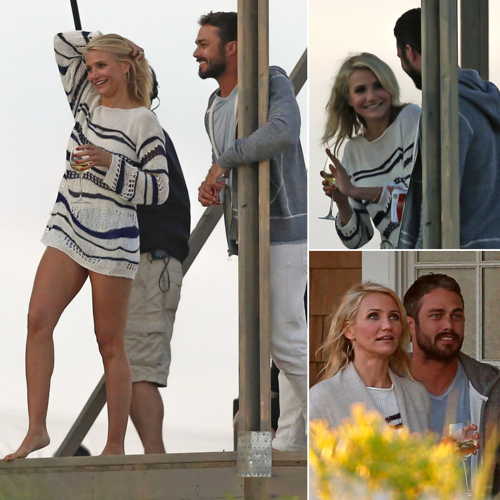 Cameron Diaz Kisses Taylor Kinney on Set in NYC