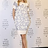 Barbara di Creddo arrived for the Chanel Little Black Jacket São Paulo event in the label's embellished pastel shift.