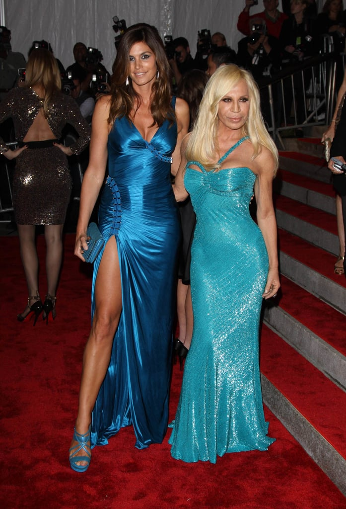Cindy and Donatella Versace on the Red Carpet