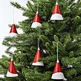 Vinterfest Hanging Santa Claus Hat Decorations