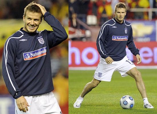 David Beckham Playing Soccer in Spain
