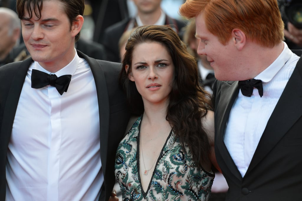 Kristen Stewart posed between her costars at the On the Road premiere in Cannes.
