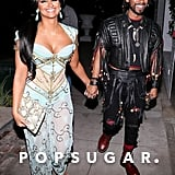 Miguel and Nazanin Mandi as Rufio From Hook and Princess Jasmine