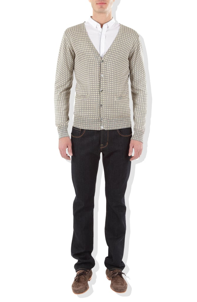 We're hoping we can get Dad to style this sweater up with dark denim jeans and a sweet pair of loafers.  Paul & Joe Homme Cardiff Sweater ($269)