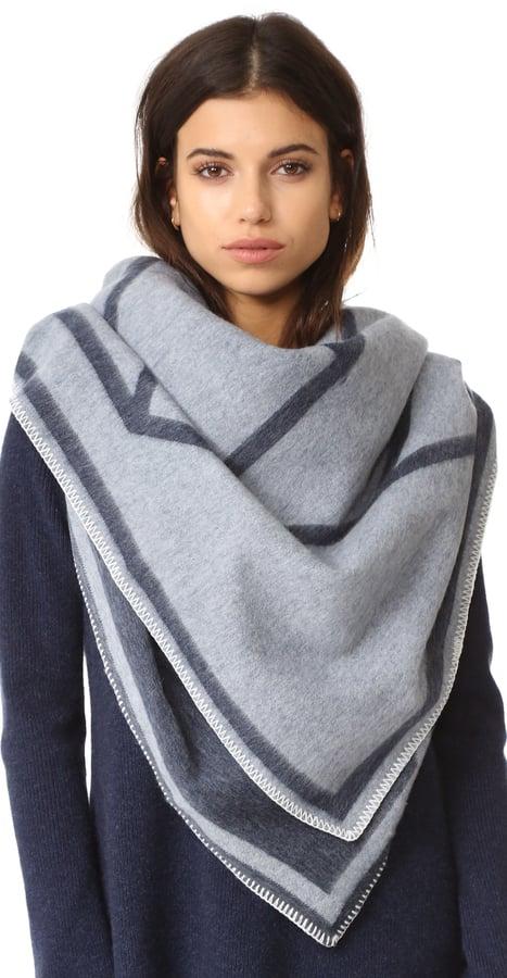 Tory Burch Fret Whipstitch Blanket Scarf ($350)