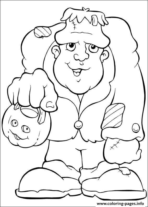 Get the coloring page: Frankenstein