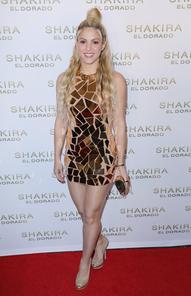 el dorado hot latina nude - Shakira Wore the Perfect Gold Dress