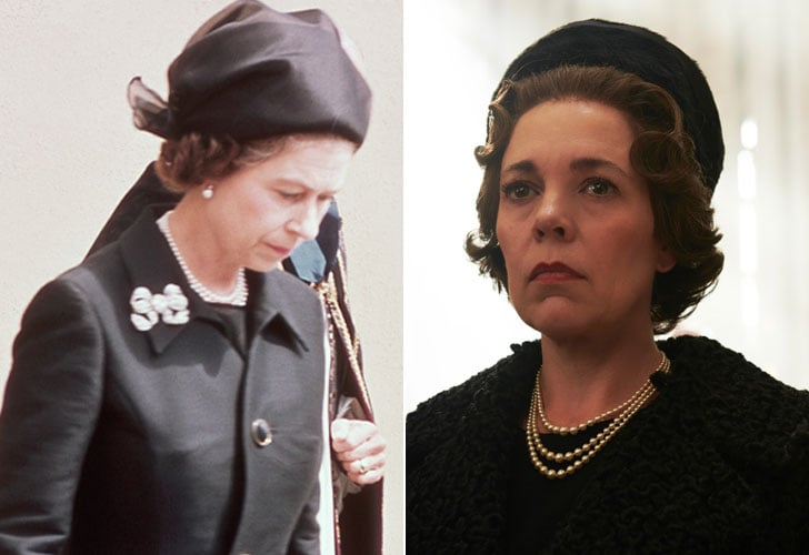 Queen Elizabeth II and Olivia Colman