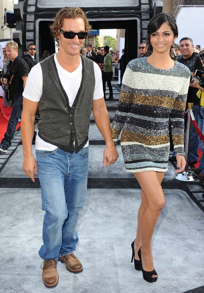 Matthew McConaughey and Camila Alves were hand in hand for a Hollywood event in September 2011.
