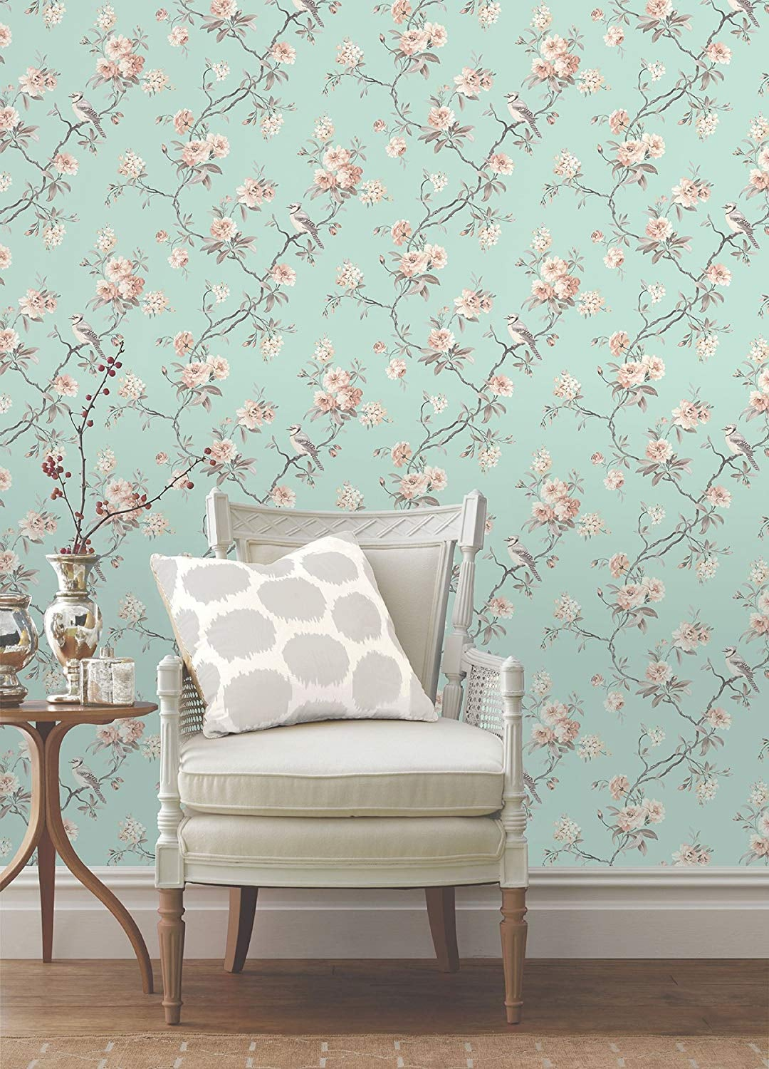 Fine Decor Chinoiserie Seafoam Floral Wallpaper 15 Gorgeous But