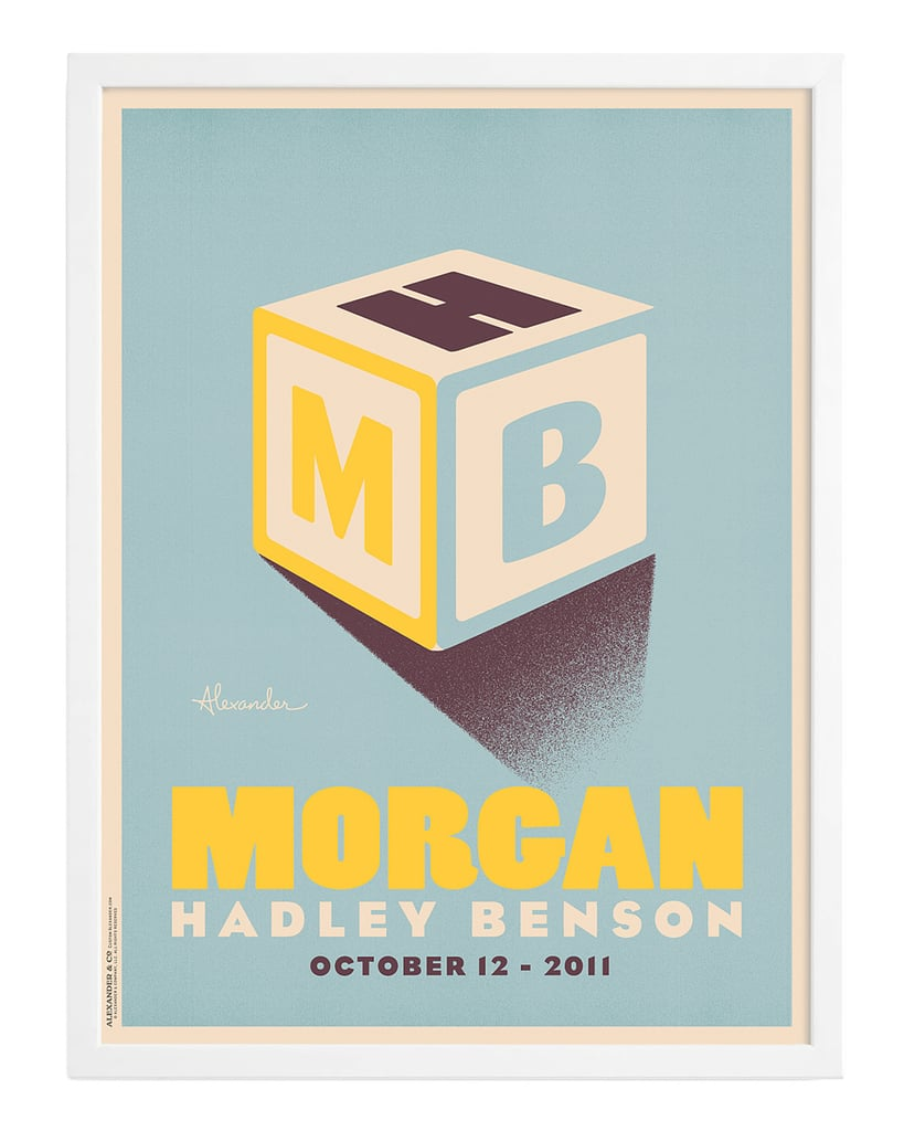 Uncommon Goods Building Blocks Personalized Wall Art ($250)