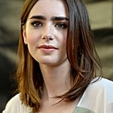 Lily opted for a casual hairstyle and nude lips while in Miami for The Mortal Instruments tour.