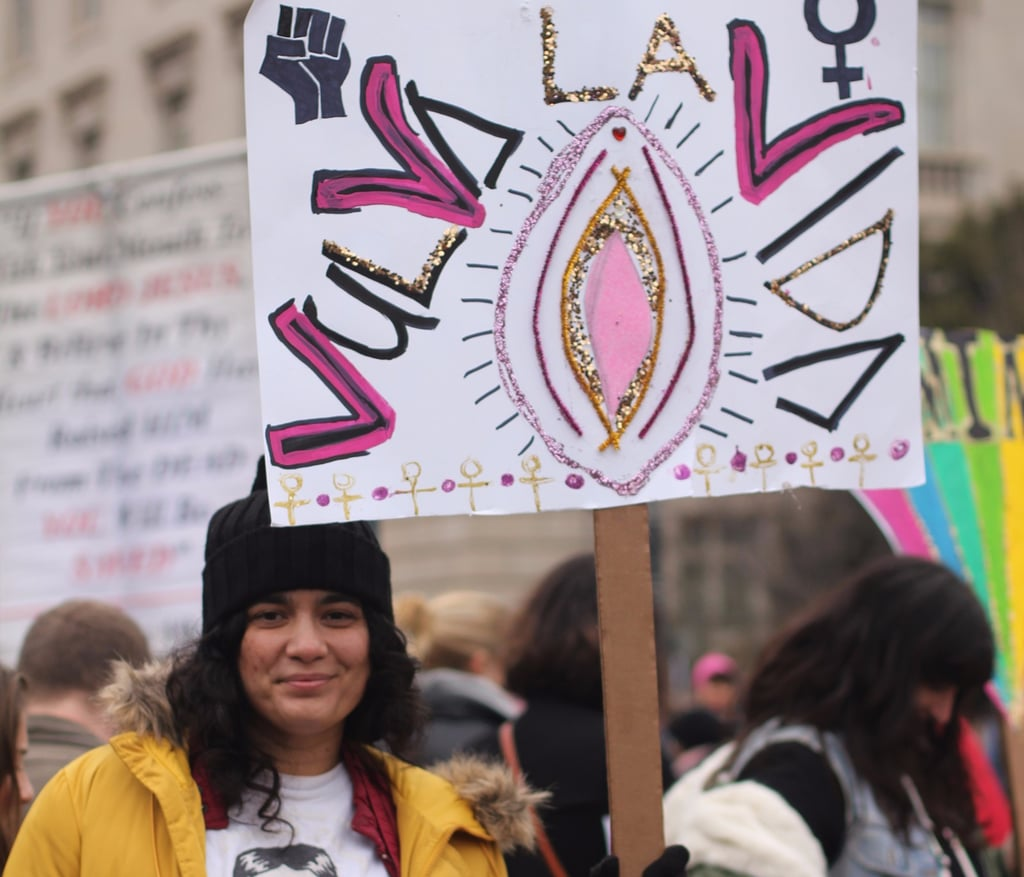 Photos of Women at the Women's March in Washington DC