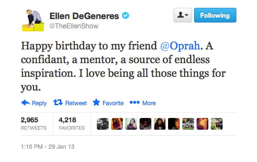 So many birthdays, so many jokes to be told. Right, Ellen?