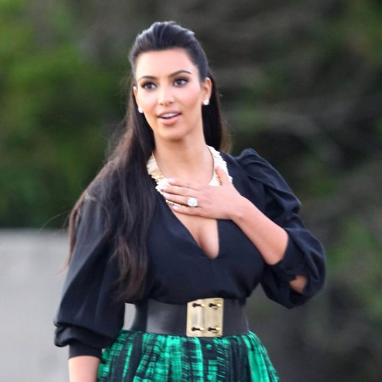 Pictures of Kim Kardashian at Beach Before Wedding