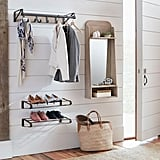 Mission Modular System Entry Mirror ($199), Hanging Coat Rack ($69), and Wall-Mount Shoe Shelves ($69)