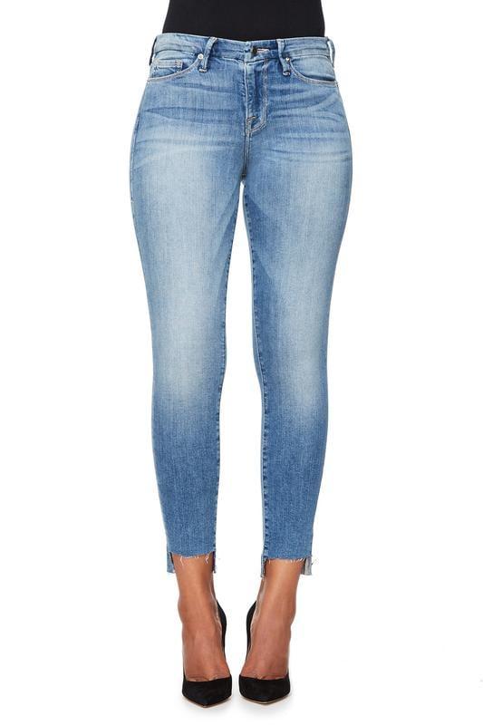 Good Legs Raw Stagger Hem BLUE007 ($169)