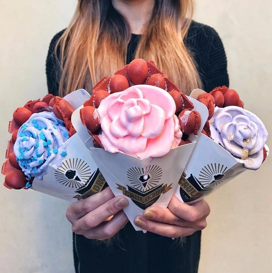 Rose-Shaped Ice Cream