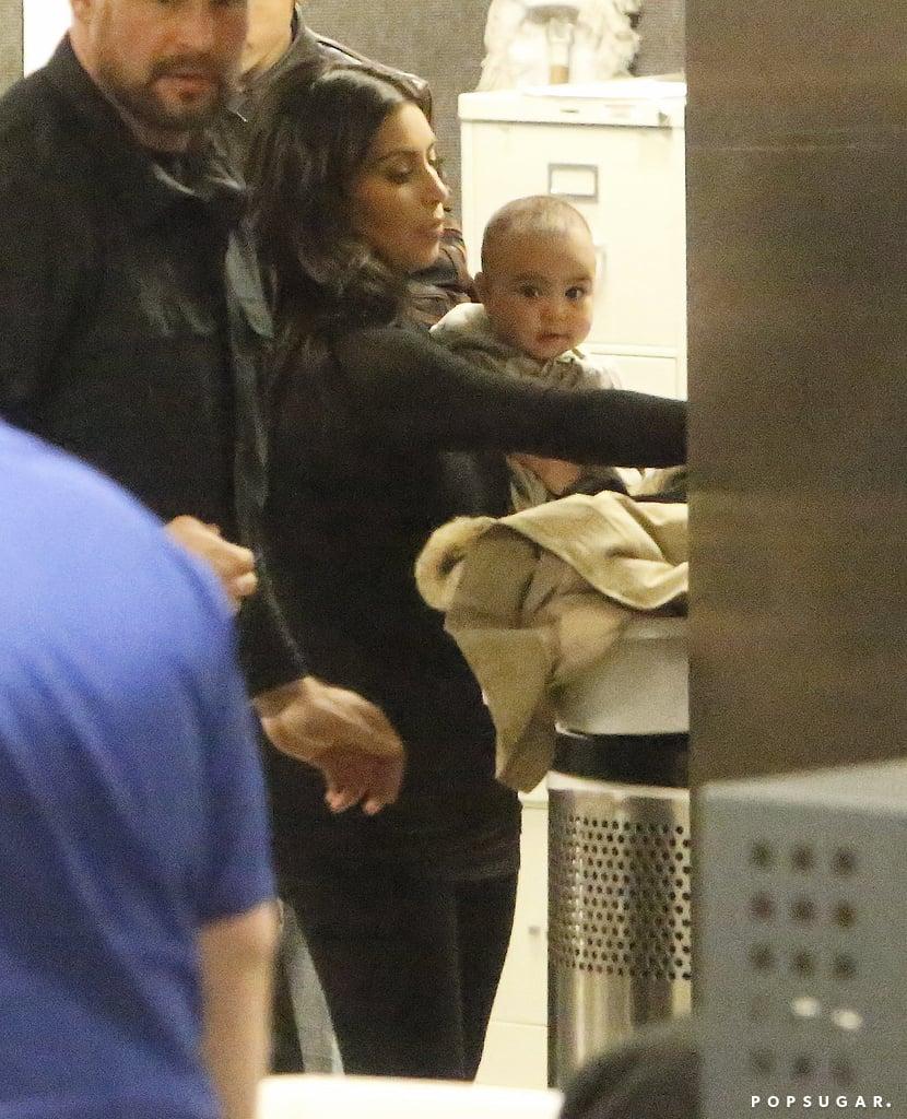 Kim Kardashian and North West Jet-Set on Valentine's Day
