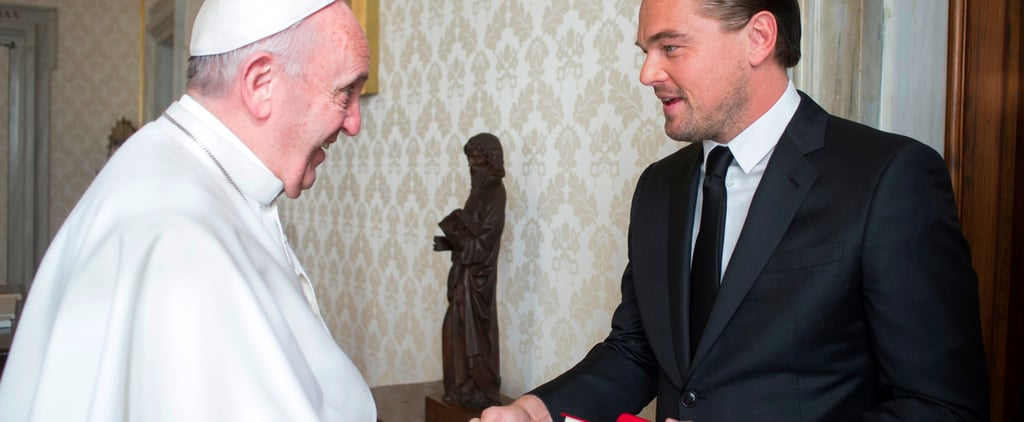 Leonardo DiCaprio Speaking Italian to Pope Francis Video