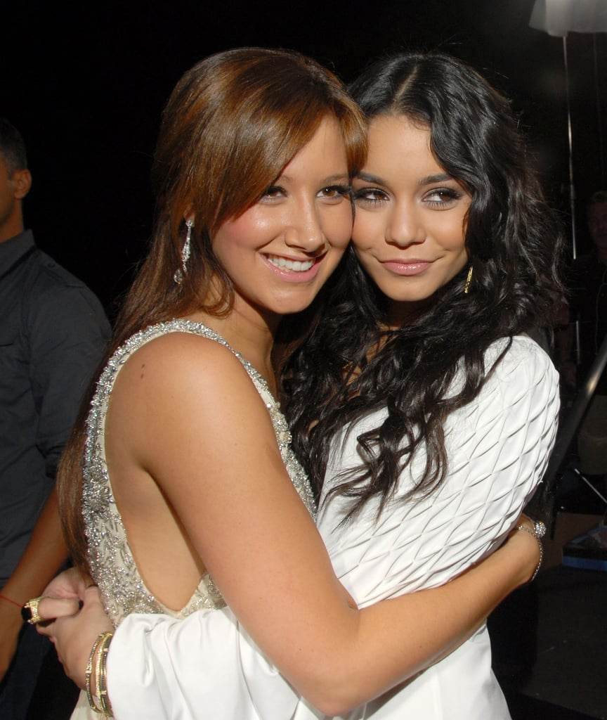 Ashley Tisdale and Vanessa Hudgens at the LA Premiere of High School Musical 3: Senior Year in 2008