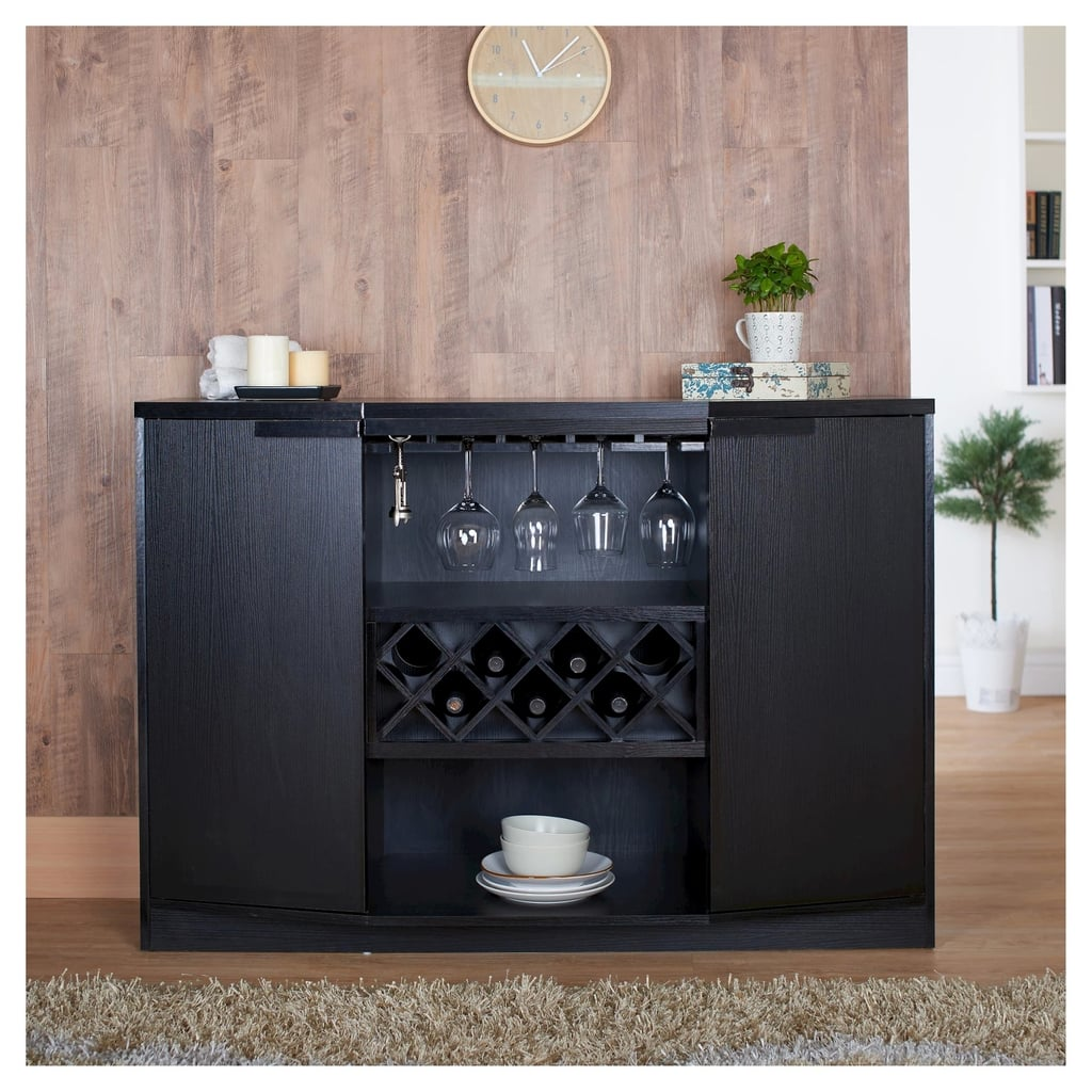 Rosio Transitional Criss Cross Wine Storage Dining Buffet