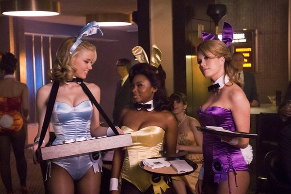 Amber Heard as Maureen, Naturi Naughton as Brenda, and Leah Renee as Alice on NBC's The Playboy Club.