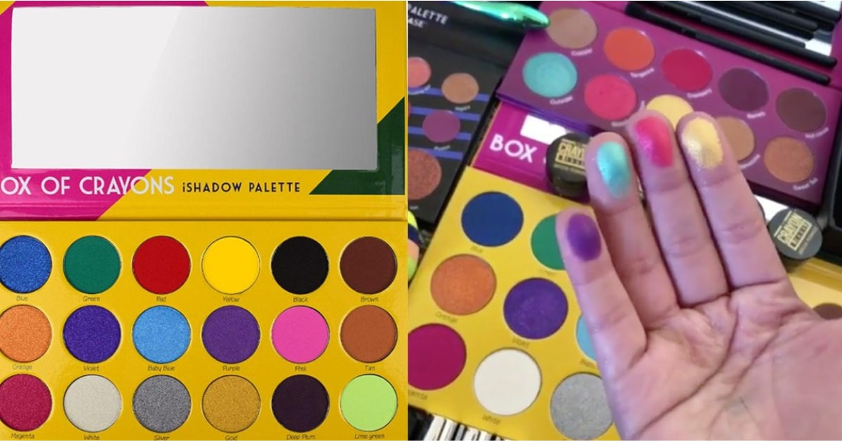 Crayon Case Box of Crayons Eye Shadow Palette Swatches ...