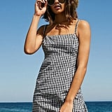 Cooperative Straight Neck Gingham Dress