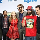 Jason Sudeikis, Aziz Ansari, Amanda Seyfried, Chris O'Dowd, Judah Friedlander and Colin Farrell all attended the New York screening of their movie Epic in New York on May 18.