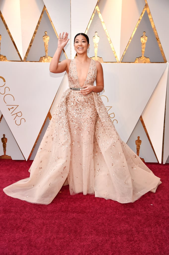 Gina Rodriguez at the 2018 Academy Awards