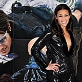 Tom Cruise and Paula Patton posed in front of a poster for the latest Mission: Impossible.