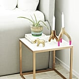 Faux Marble and Gold Nightstand