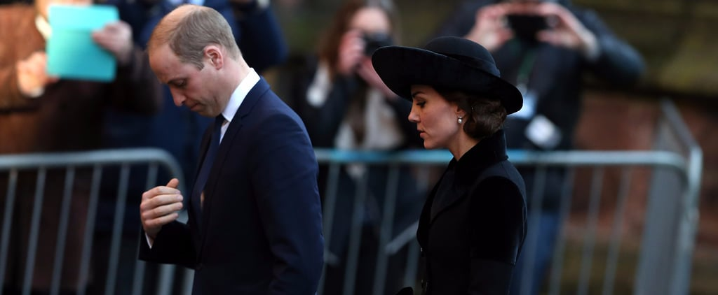 Prince William and Kate Middleton Make a Sombre Appearance at a Royal Memorial Service