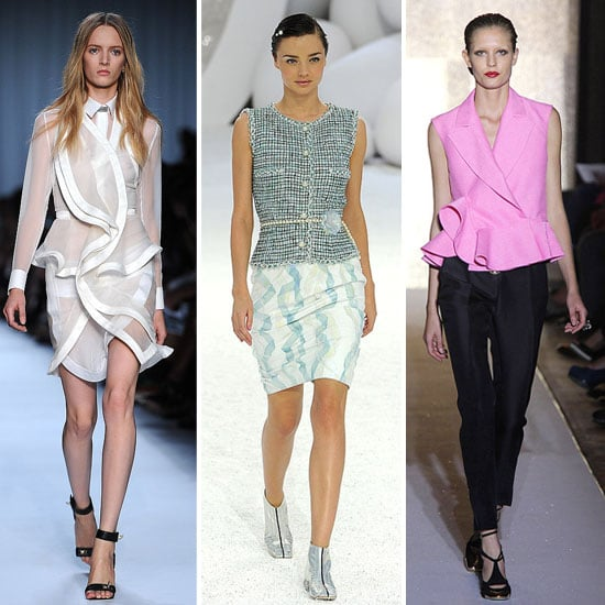 Five Trends from the Spring Summer 2012 Runways to Try Now: Fringing, Babydoll Dresses, Peplums, Fringing and Colour Blocking