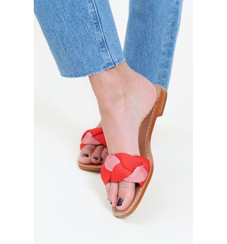 3e1ad4eaf7f Something Navy Rose Braid Slide Sandals | Nordstrom Half Yearly Sale ...