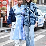 Winter Outfit Idea: Blue Puffers and Blue Jeans