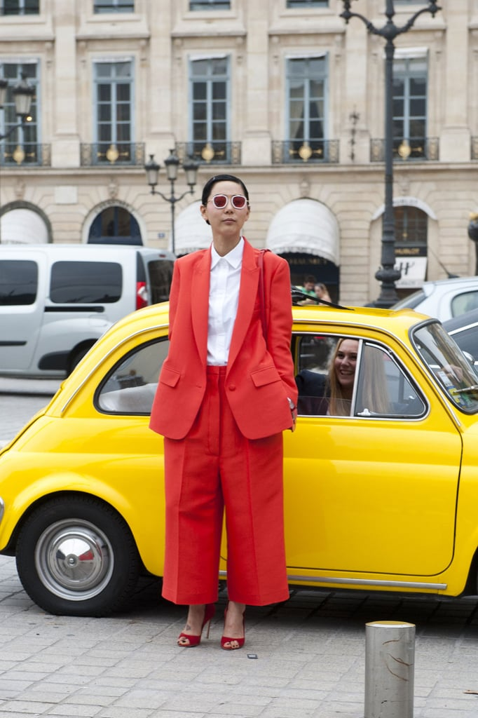 Head-to-toe brights — and the car isn't bad either.