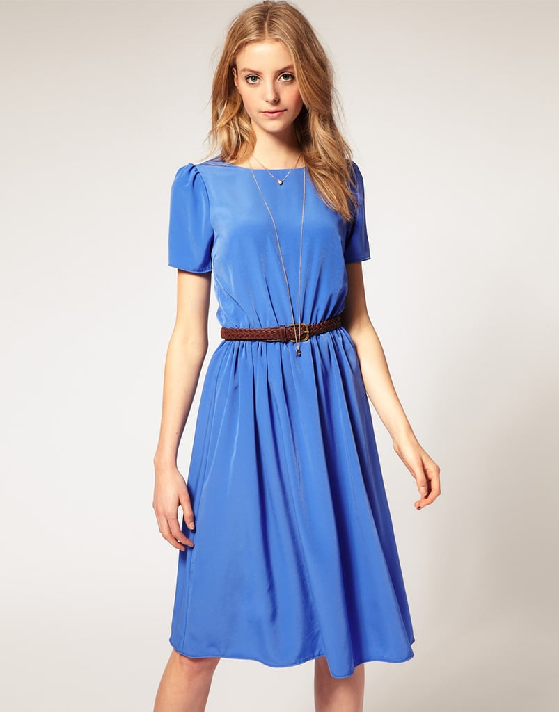 ASOS Soft Skirt Midi Dress With Short Sleeves ($46)
