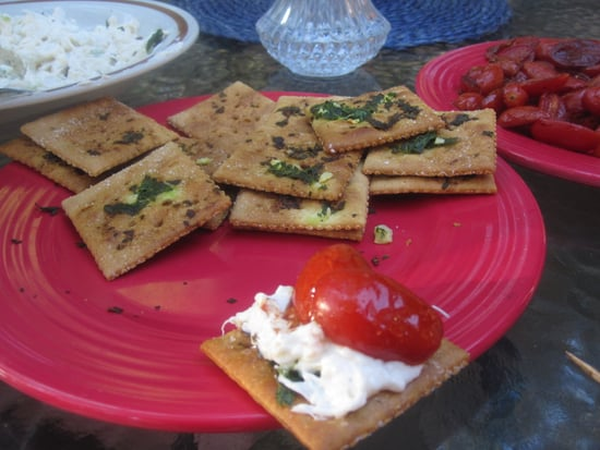 Crab Dip With Garlic Saltines and Roasted Cherry Tomatoes Recipe