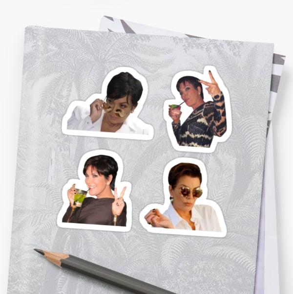 Kris Jenner Sticker Set