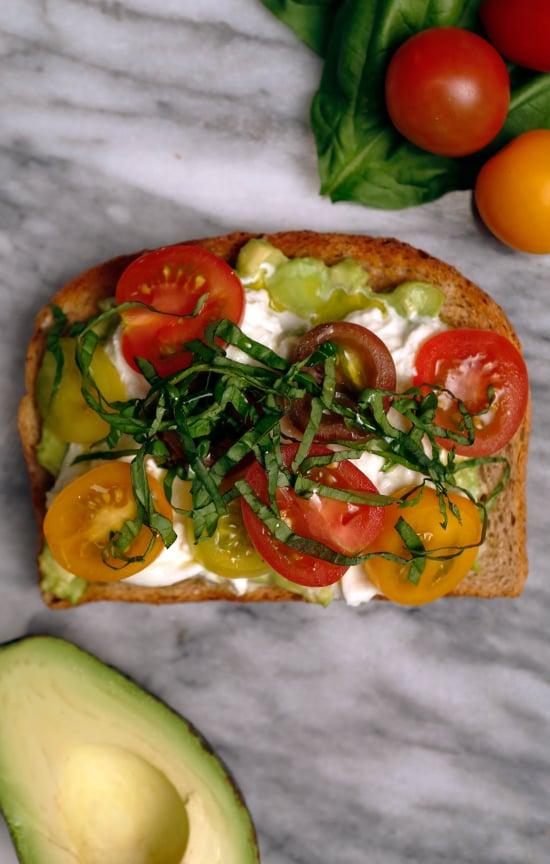 Heirloom Tomatoes Burrata And Basil The Best Avocado Toast Recipes Popsugar Food Photo 3