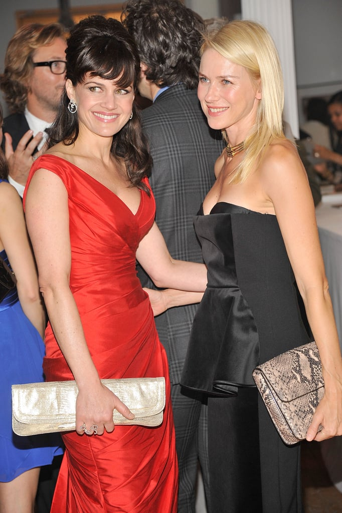Carla Gugino and Naomi Watts got together at the 2012 Tribeca Ball in NYC.