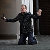 Kiefer Sutherland takes a knee as Jack Bauer.