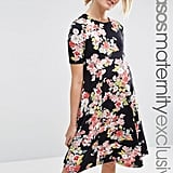 Asos Floral Swing Dress with Short Sleeve