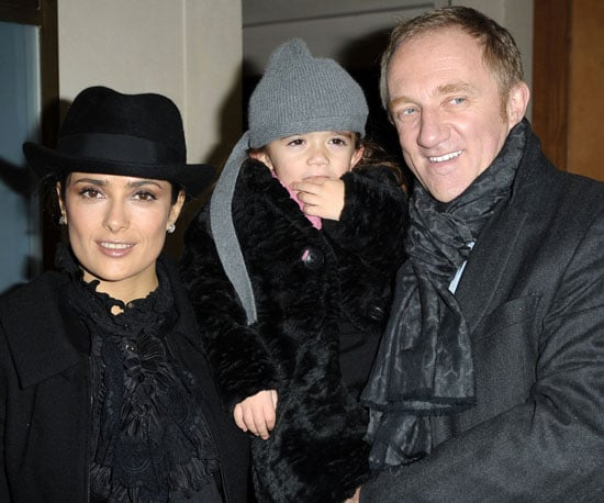 Slide Picture of Salma Hayek, Francois-Henri Pinault, and Valentina Pinault in Paris