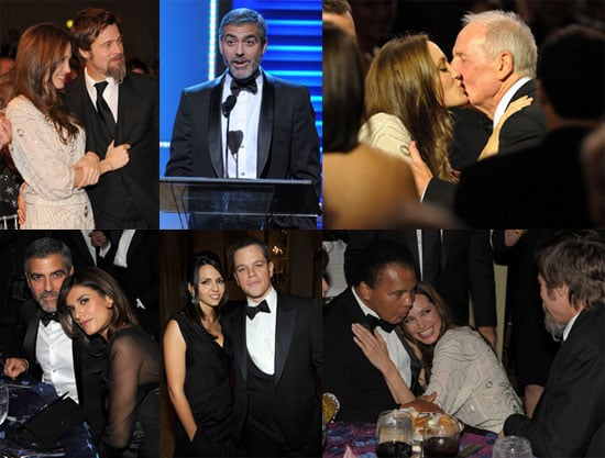 Photos of Matt Damon, George Clooney, Brad Pitt, and Angelina Jolie at a UNICEF Event 2009-12-11 06:38:11