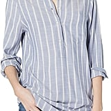 Daily Ritual Soft Rayon Slub Twill Long-Sleeve Popover Tunic