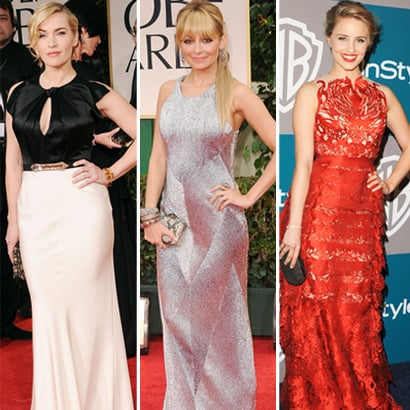 Kate Winslet, Nicole Richie, Dianna Agron Golden Globes Fashion