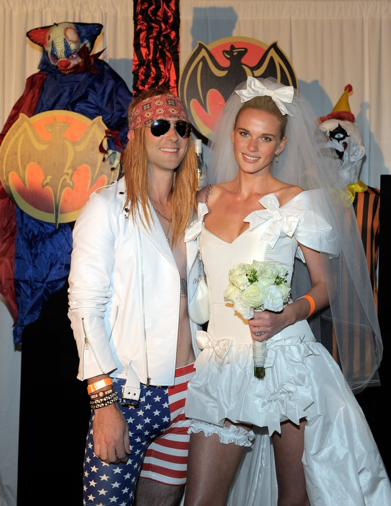 "Adam Levine and Anne V as Axl Rose and Stephanie Seymour From ""November Rain"""